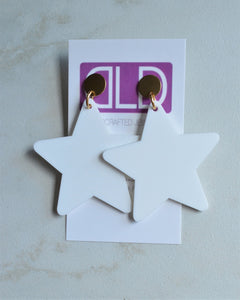 Star Earrings, Statement Earrings, Big Acrylic Earrings, Large Earrings