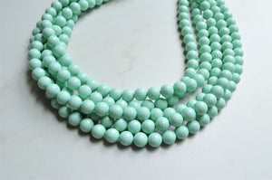 Mint Green Necklace, Statement Necklace, Lucite Bead Necklace, Chunky Necklace, Gift For Women - Angelina