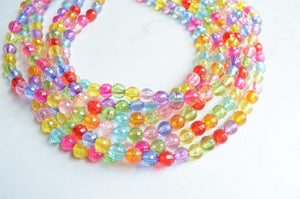 Multi Color Statement Necklace, Beaded Acrylic Necklace, Multi Strand Necklace - Angelina