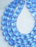 Blue Statement Necklace, Acrylic Bead Necklace, Chunky Lucite Necklace, Gift For Women - Amber
