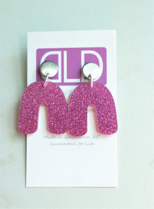 Statement Earrings, Glitter Lucite Earrings, Big Acrylic Earrings