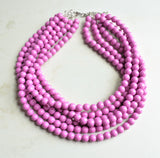 Purple Statement Necklace, Acrylic Bead Necklace, Chunky Necklace, Gift For Her - Alana