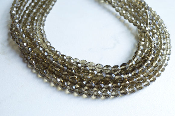 Gray Statement Necklace, Smoky Quartz Necklace, Crystal Necklace - Rebecca