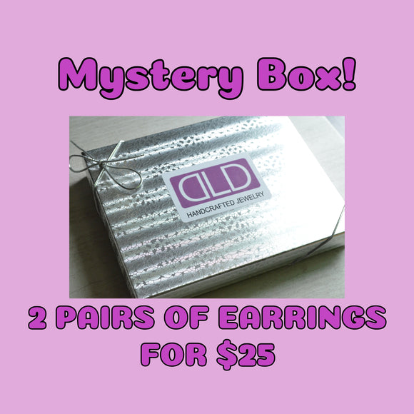 Mystery Box - 2 Pairs of Earrings - No Coupon Codes - See Description For Details