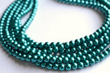 Teal Statement Necklace, Pearl Bead Necklace, Chunky Necklace, Bridal Jewelry, Bridesmaid Gifts - Michelle