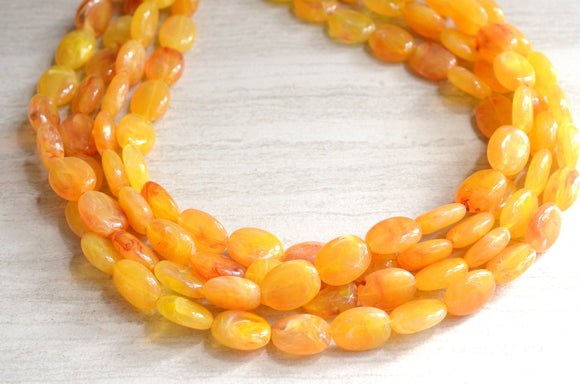 Yellow Statement Necklace Chunky Lucite Necklace Beaded Acrylic Necklace Gifts For Her - Lauren
