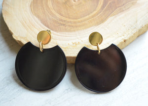 Black Statement Earrings Lucite Big Earrings Gifts For Her - Hanna