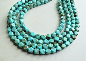 Turquoise Statement Necklace, Beaded Acrylic Necklace, Multi Strand Necklace, Chunky Necklace, Gift For Her - Verti