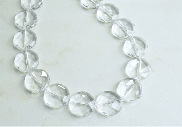 Clear Statement Necklace, Acrylic Necklace, Lucite Bead Necklace, Chunky Necklace, Gift For Her