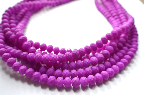 Purple Statement Necklace, Matte Necklace, Rubber Necklace. Bead Necklace, Chunky Necklace - Aria