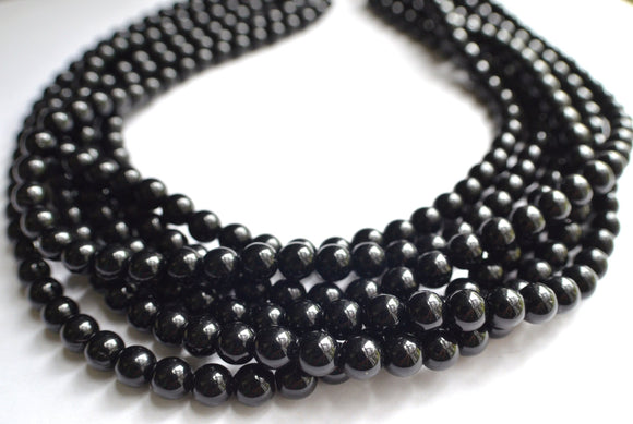 Black Statement Necklace Beaded Chunky Necklace Multi Strand Necklace Gifts For Her - Michelle