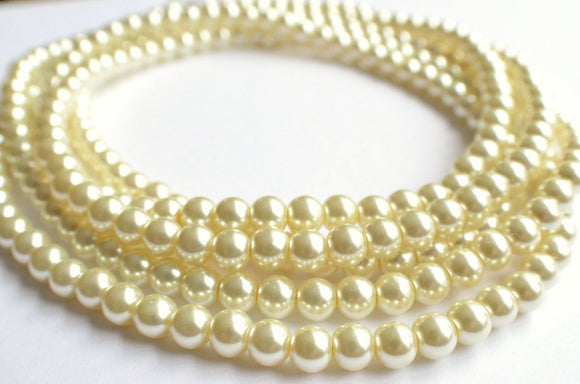 Pearl Long Necklace, Beaded Pearl Necklace, 1920s Jewelry, Statement Necklace, Bridesmaid Gift, Gift For Her - Gatsby