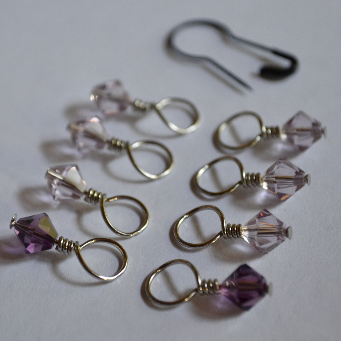 Stitch Markers // Amethyst Lavender