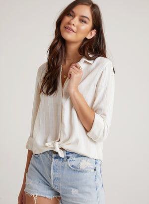 Frayed Hem Button Down
