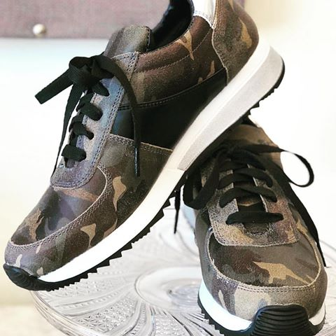 Cofi Leathers Camo Sneakers