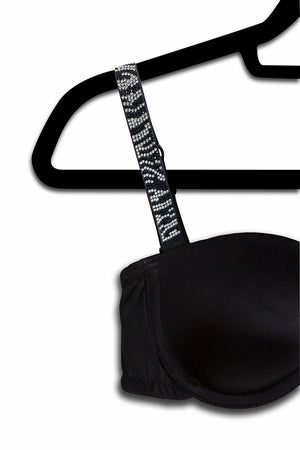 Zebra Crystal Strap(attached to our black bra)