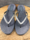 Cheerful Grey Flip Flops
