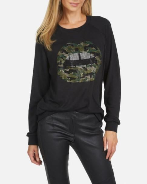 Noleta Long Sleeve Pullover Crystal Camo