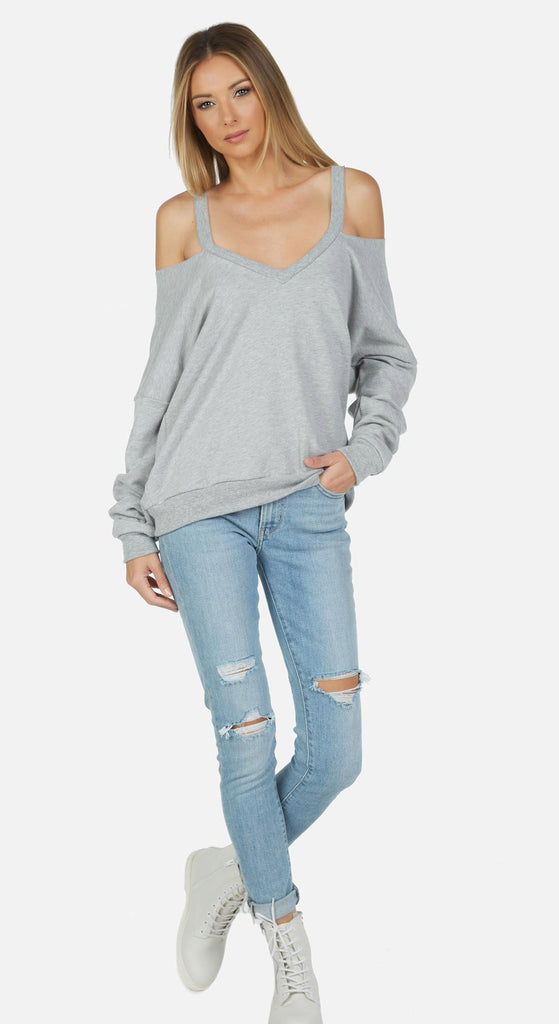 Swanson L/S Cut Out V-Neck Pullover