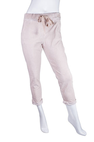 Haley Stretch Cotton Tie Front Pant