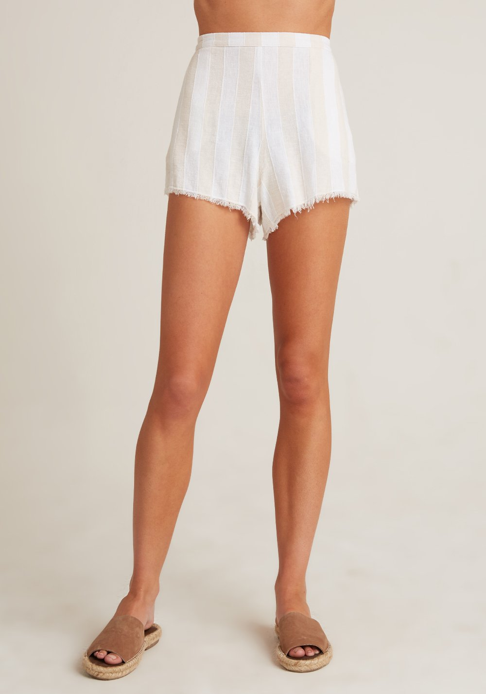 High Waisted Fray Short