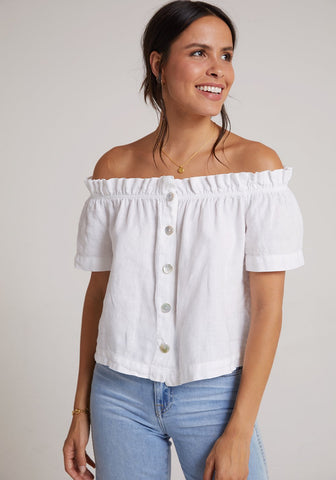 Ruffle Of Shoulder Top