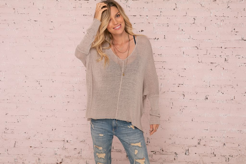 Wren V Cotton Sweater