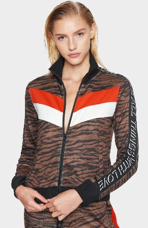 Pam and Gela Tiger Colorblock Track Jacket