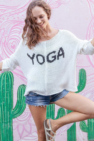 Yoga Slouchy Chunky Crew Cotton Sweater