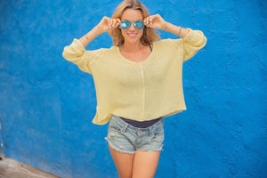 Maui V Cotton Sweater
