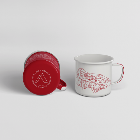 jackson hole original trail art enamel mugs