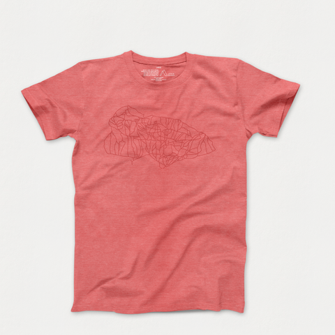 jackson hole artwork red heather tee
