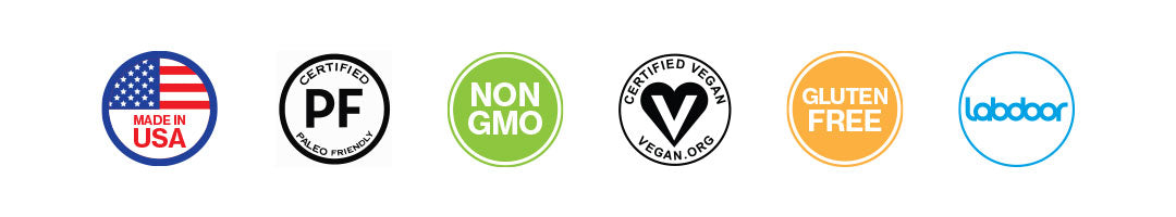 Made in USA - Paleo - Non-GMO - Vegan - Gluten Free - Labdoor Tested