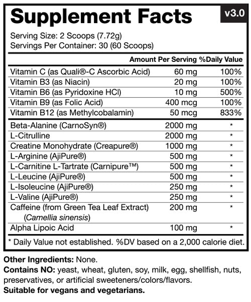 PurePump Ingredients