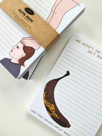 Note pad 2 pack - Bananas and Always on my Mind