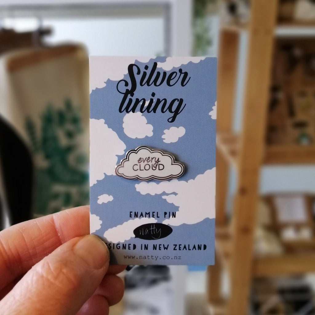 Every Cloud has a Silver lining Enamel Pin