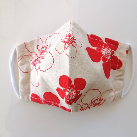 Face masks - Manuka print in cotton