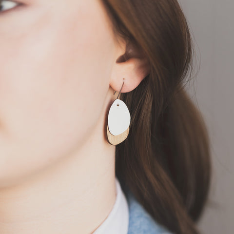 Pebble  Rimu/Colour earrings