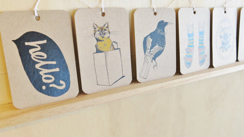 Gift Tags - Mixed pack of 8 Natty designs