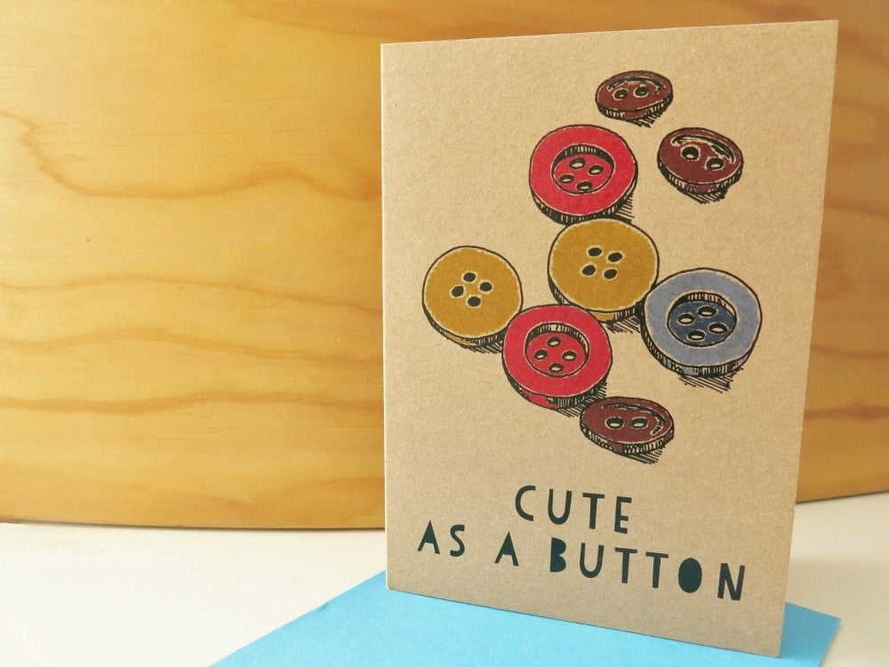 Gift card - Cute as a Button