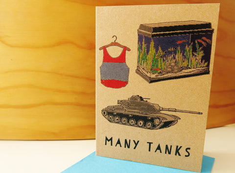 Gift card - Many Tanks Thank you