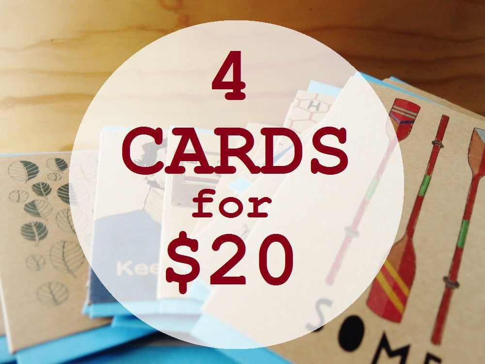 Multi card pack - 4 Cards for $20