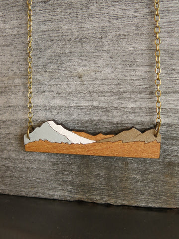 Aoraki Mt Cook Rimu Necklace