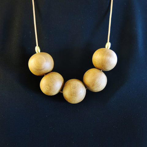 Circular Bead Necklace - Native NZ Reclaimed Heart Rimu