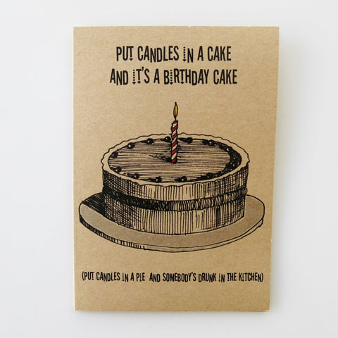 Gift card  - Happy Birthday Cake