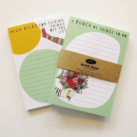 Note pad 2 pack - Flowers and High kicks