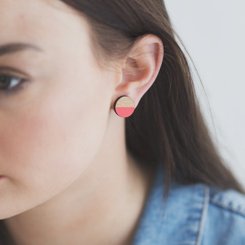 Circle Rimu earrings