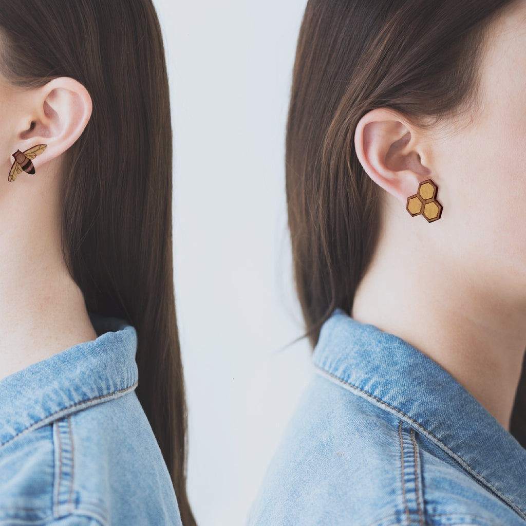 Honeybee  Rimu earrings