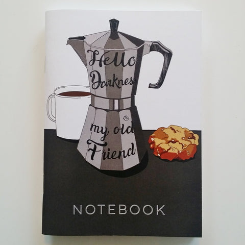 Hello Darkness Coffee Notebook