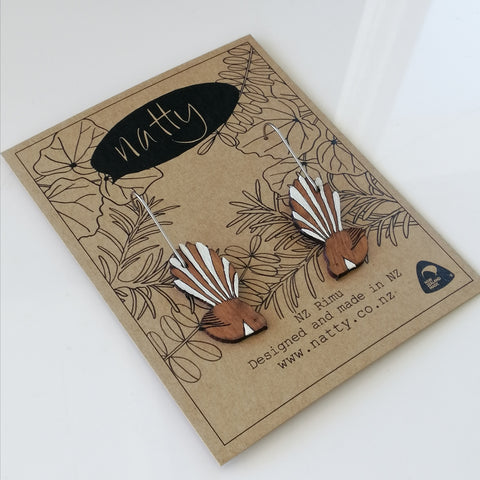 Hanging Fantail earrings